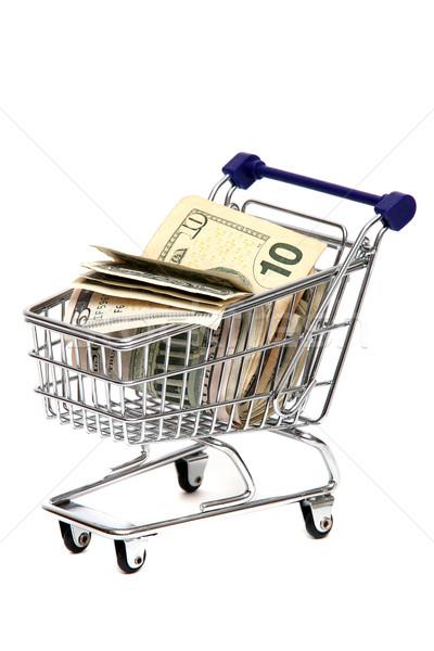 Banknotes in shopping basket Stock photo © pterwort