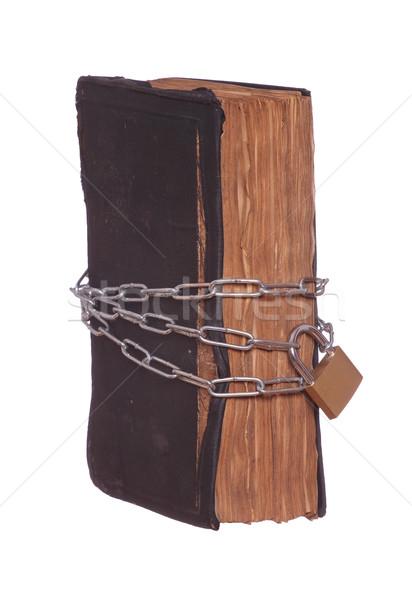 Eski dua kitap korumalı asma kilit Stok fotoğraf © pterwort