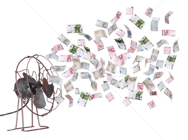 old ventilator and european banknotes Stock photo © pterwort