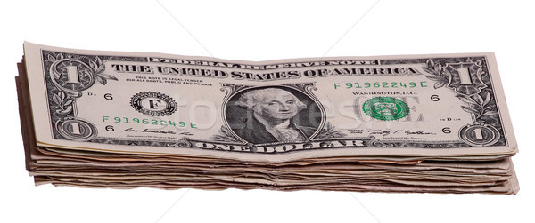 stack of 1 dollar notes Stock photo © pterwort