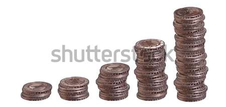 growing stacks of european coins Stock photo © pterwort