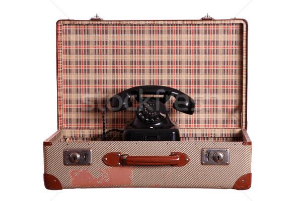 старые чемодан телефон служба фон Сток-фото © pterwort