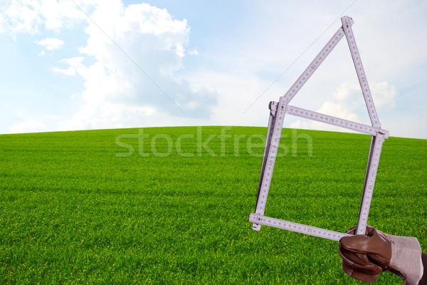 ルール 緑 芝生 建物 建設 ホーム ストックフォト © pterwort