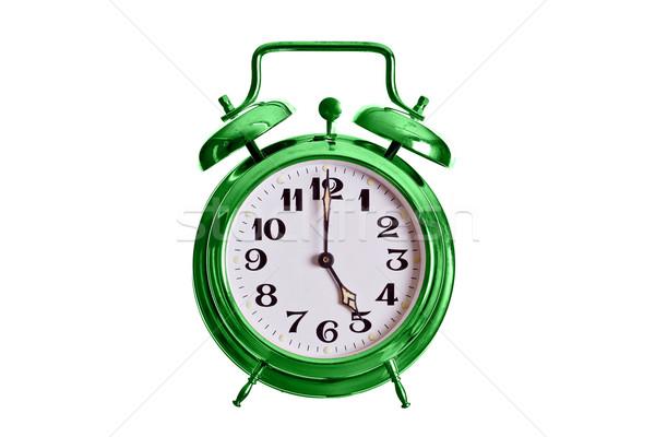 ストックフォト: 古い · 緑 · アラーム · 鐘 · クロック · 金属