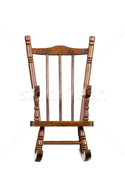 Starych bujane krzesło meble biały Zdjęcia stock © pterwort
