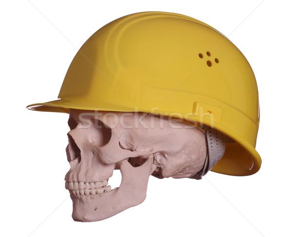 頭蓋骨 黄色 ヘルメット 健康 死 ワーカー ストックフォト © pterwort