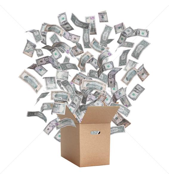 бумаги окна Flying долларов бизнеса деньги Сток-фото © pterwort