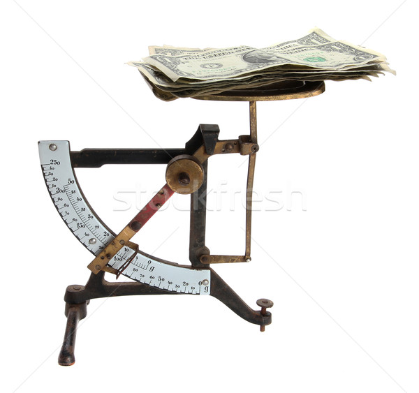 old letter scales with money Stock photo © pterwort