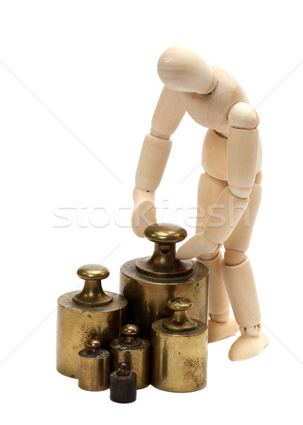 doll with balance weight Stock photo © pterwort