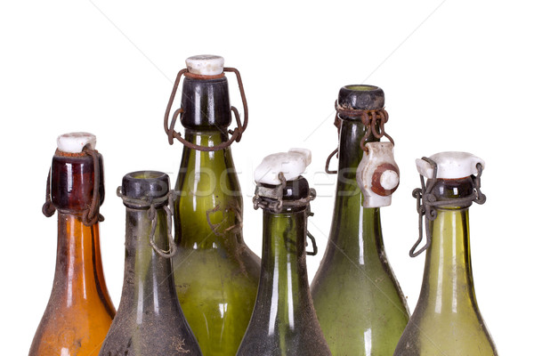 Vecchio polveroso bottiglia bottiglie design sfondo Foto d'archivio © pterwort