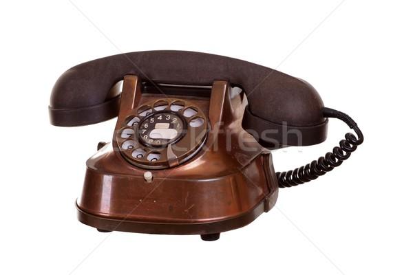 старые телефон служба технологий контакт кабеля Сток-фото © pterwort