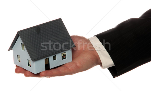 house on palm of hand Stock photo © pterwort