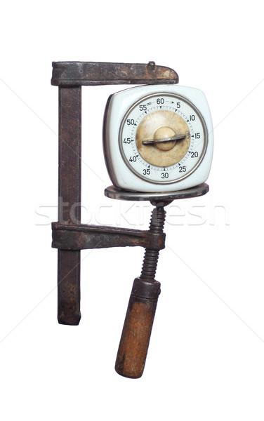 öreg időzítő nyomás retro óra klasszikus Stock fotó © pterwort