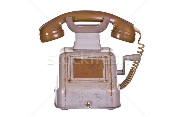 old phone with crank Stock photo © pterwort