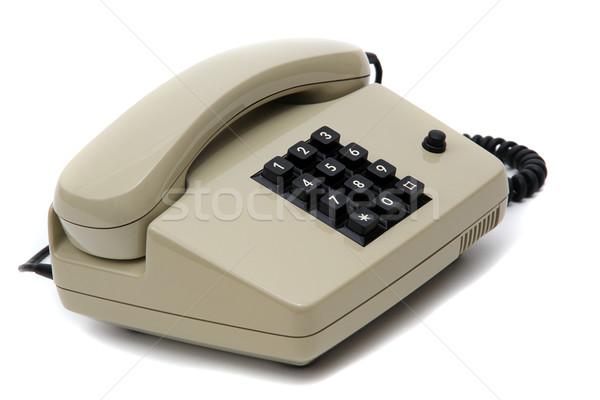 grey telephone Stock photo © pterwort