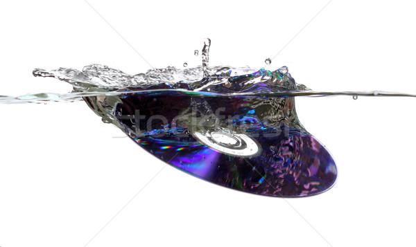 Foto stock: Cd · água · mar · tecnologia · filme · arco-íris