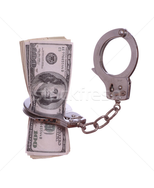 100 dollar notes in handcuff Stock photo © pterwort