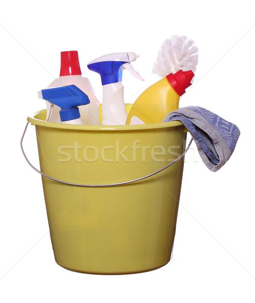 очистки объекты работу домой синий красный Сток-фото © pterwort