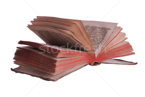 very old historic book with fanned pages Stock photo © pterwort