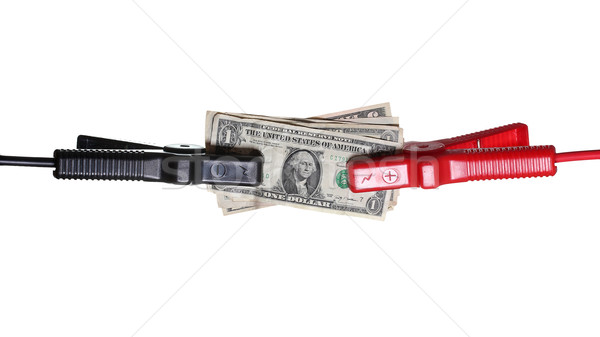 dollars connected to starter cables Stock photo © pterwort