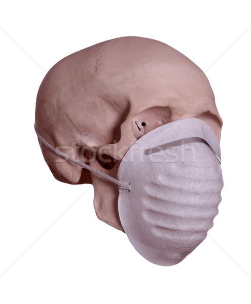 Crânio máscara cirúrgica assinar ciência máscara vida Foto stock © pterwort