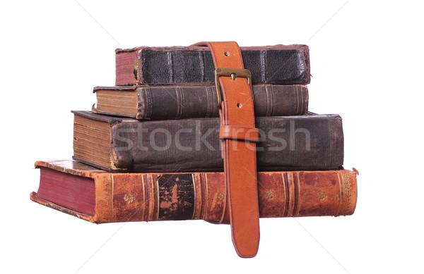 Gordel oude boeken papier boek school Stockfoto © pterwort