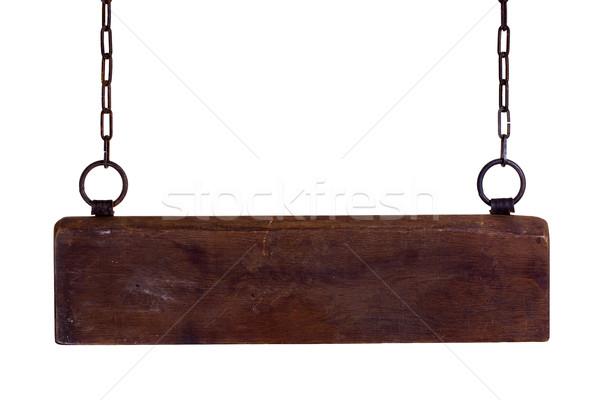 пластина цепями текстуры кадр знак Сток-фото © pterwort