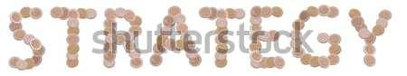 écrit pièces blanche affaires argent métal Photo stock © pterwort
