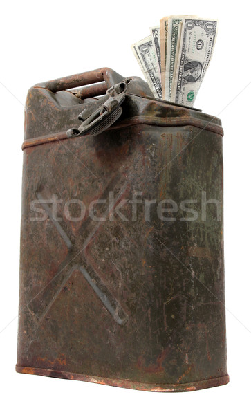 jerrycan with dollar notes Stock photo © pterwort