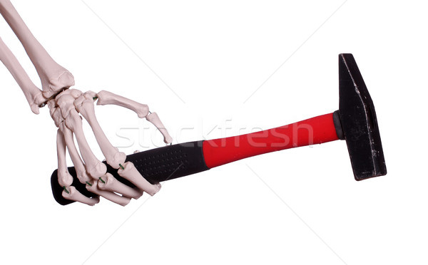 скелет стороны молота строительство работу домой Сток-фото © pterwort