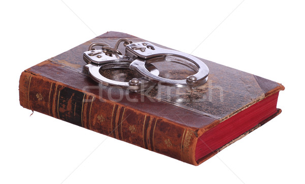 old book with handcuff Stock photo © pterwort