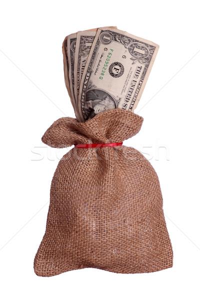 dollars in brown sack Stock photo © pterwort