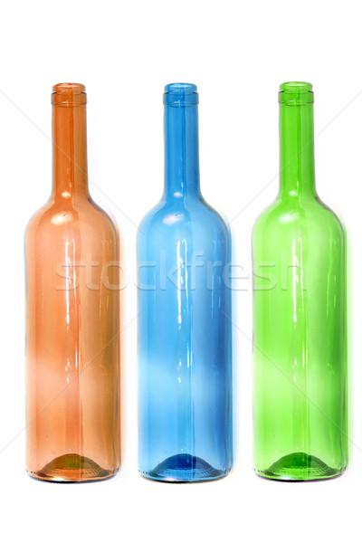 empty colored wine bottles Stock photo © pterwort