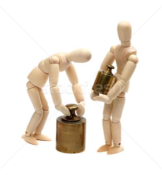 two wooden dolls with balance weight Stock photo © pterwort