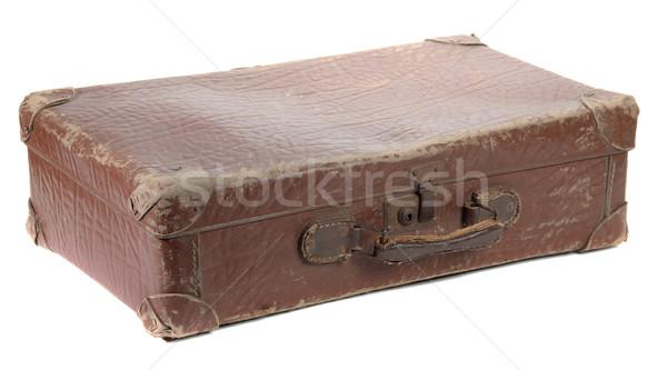 Oude bagage bruin gesloten witte zomer Stockfoto © pterwort