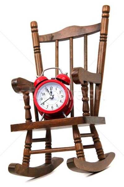 Velho cadeira de balanço vermelho alarme sino Foto stock © pterwort