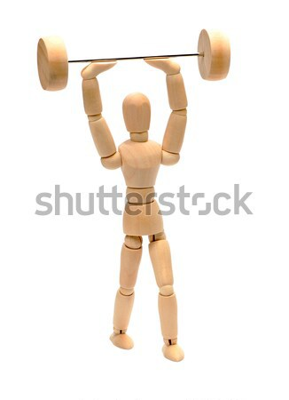 doll doing weight lifting Stock photo © pterwort