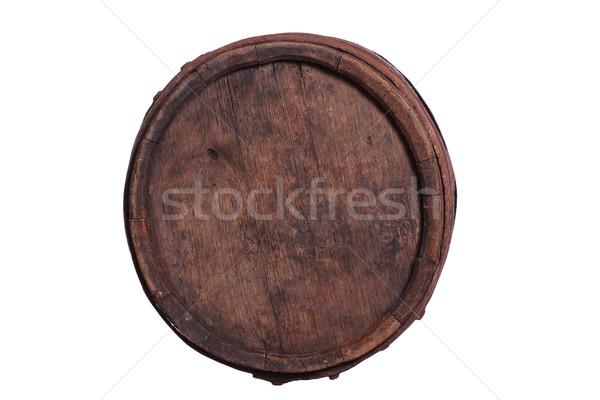 Vieux baril vin fond blanche alcool Photo stock © pterwort