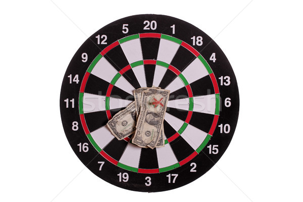 dard board with centered arrows and banknotes Stock photo © pterwort