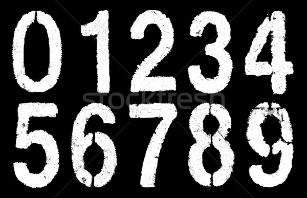 weathered numbers 0-9 Stock photo © pterwort