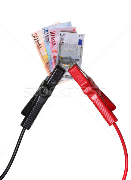 european currency in jump-start cables Stock photo © pterwort