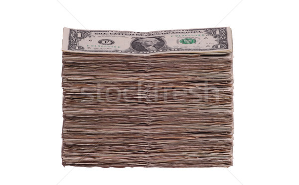 Dollár jegyzetek üzlet pénz zöld bank Stock fotó © pterwort