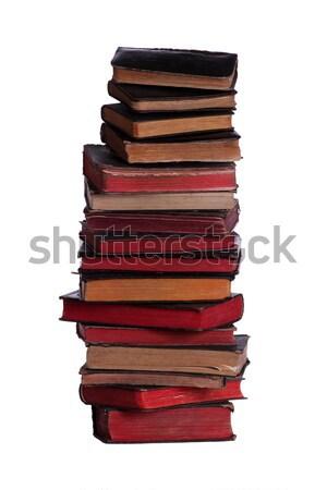 старые книгах открытой книгой Top науки черный Сток-фото © pterwort