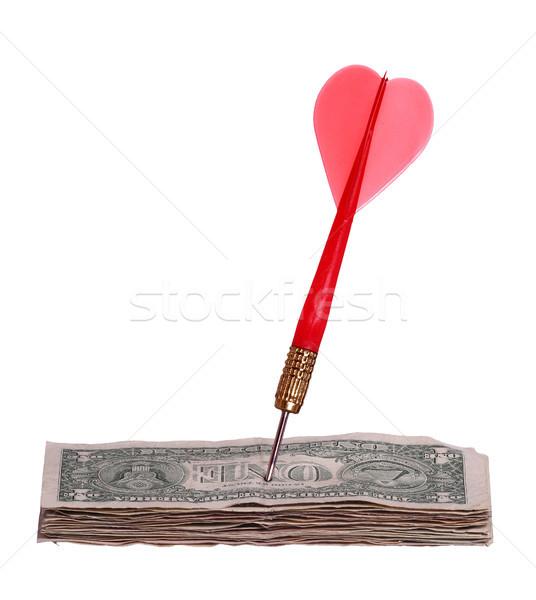долларов красный стрелка бизнеса бумаги Сток-фото © pterwort