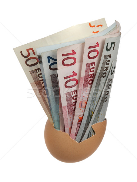 european bank notes in eggshell Stock photo © pterwort