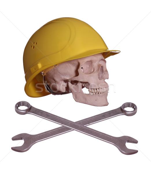череп костях шлема ключа лице смерти Сток-фото © pterwort