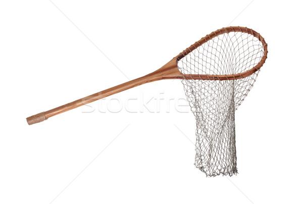 古い 木製 魚網 ツール 白 純 ストックフォト © pterwort