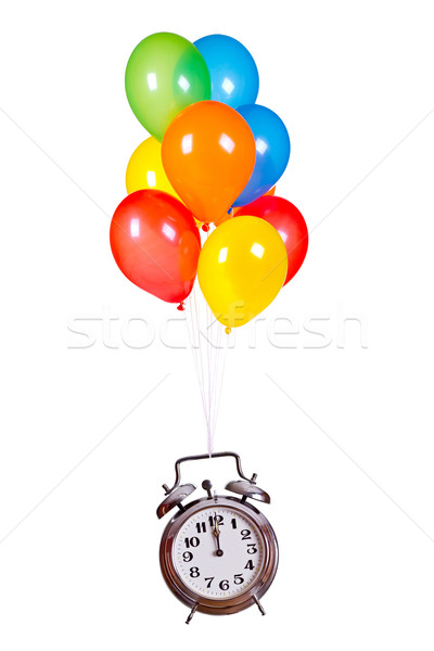 старые тревогу колокола шаров вечеринка часы Сток-фото © pterwort