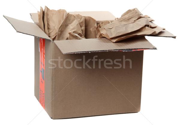 грубая оберточная бумага белый фон подарок Сток-фото © pterwort