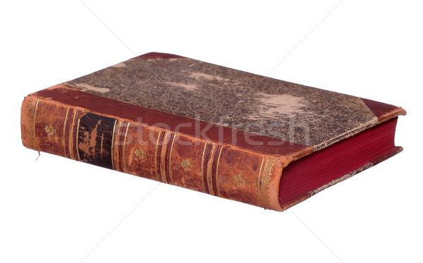 Starej książki czerwony sztuki edukacji nauki Zdjęcia stock © pterwort